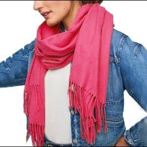 Pink Cashmere Scarf Shawl Wrap